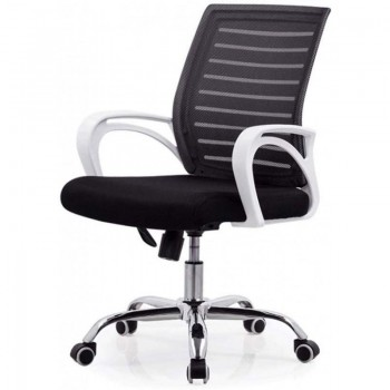 SILLON SD SUNSET NEGRO CON BRAZOS BLANCO