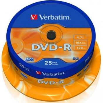 DVD-R TARRINA 25UNIDADES VERBATIN 16 X